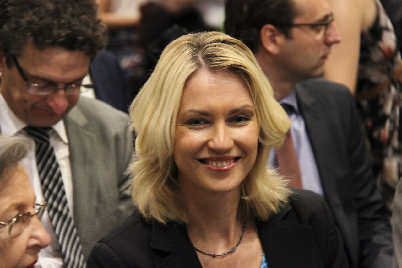 Manuela Schwesig sitting in the audience